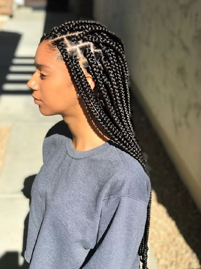 single braided hairstyle for nigerian women