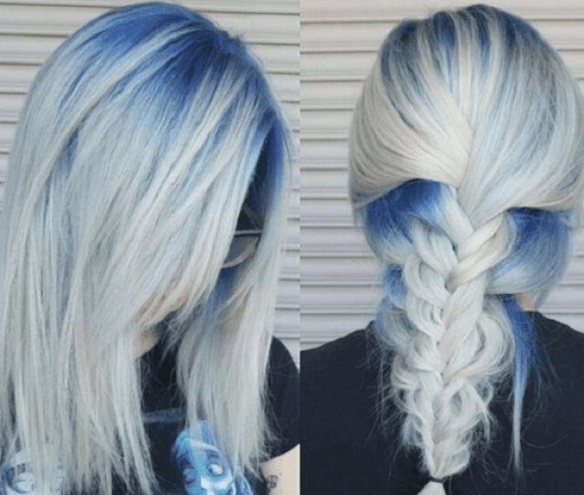 Silver Blue Hair Is Not Popular Thats Why If You Choose It You Can Count On Sporting A Unique Hairstyle Take Another Look At These Seven Options And