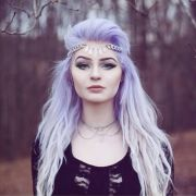 lavender hair and purple