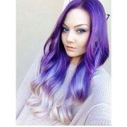 lavender hair and purple