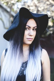 glamorous black ombre hair styles