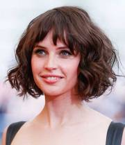 chic and beautiful curly bob