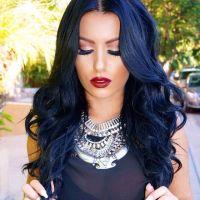 Blue Black Hair Tips And Styles | Dark Blue hair Dye Styles
