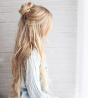 trendy and beautiful long blonde
