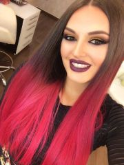 fiery red ombre hair color ideas