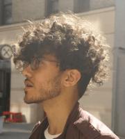 stylishly masculine curly