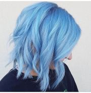fresh light blue hair color