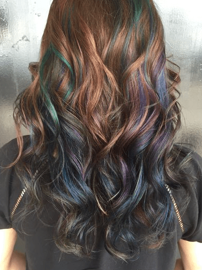 Oil Slick Hair The Epic New Rainbow Hair Technique