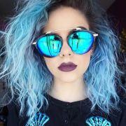 fresh light blue hair color