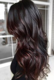 rich and sultry dark brown hair