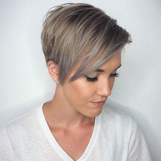 Image Result For Pixie Haircuts With Long Bangs