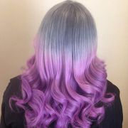 luxuriously royal purple ombre