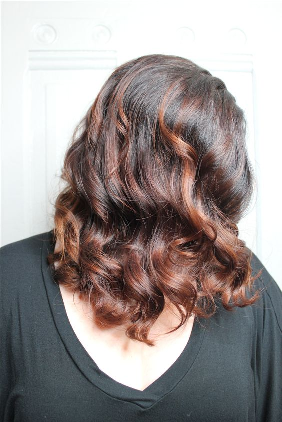 Copper Mahogany Brown Hair Color