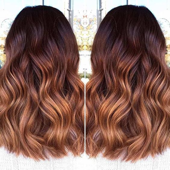Hair Brown Mahogany Copper Color