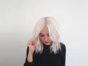 white hair dye