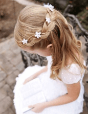 cute & fancy flower girl hairstyles
