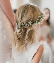 cute & fancy flower girl hairstyles