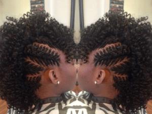 fishbone braids mohawk