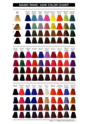 manic panic colors guide