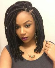 long and short faux locs styles