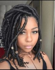 short faux locs and protective