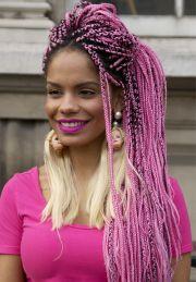 individual braids and crochet
