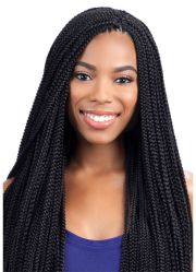 individual braids and crochet