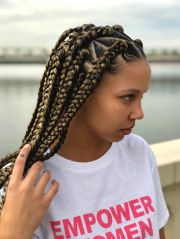 triangle box braids styles adore