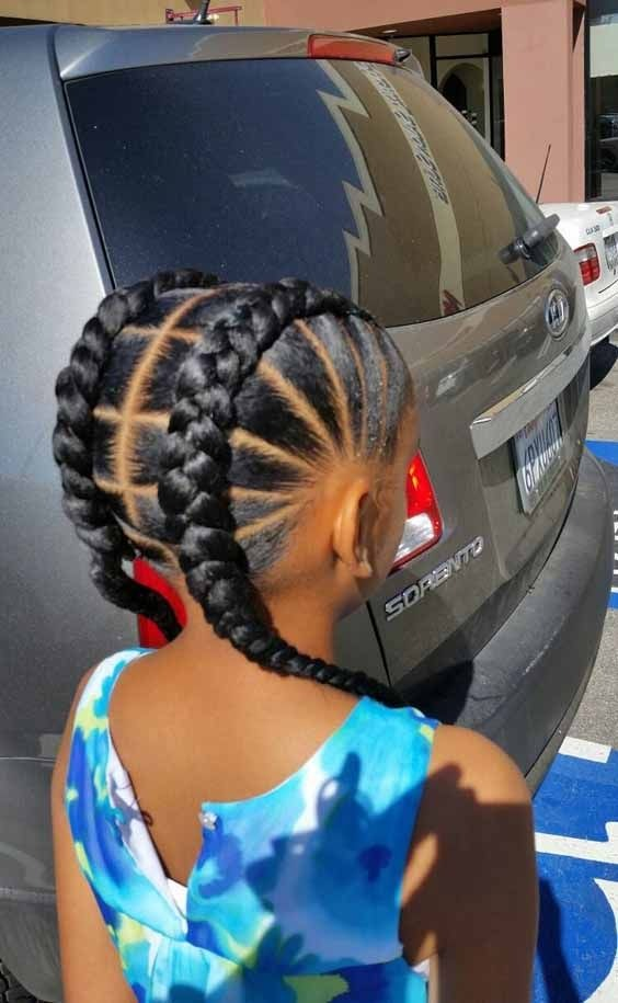 Curly Hair Side Braids 35 Amazing Natural Hairstyles For Little Black Girls