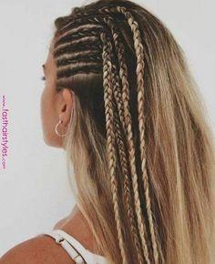 skinny multiple side braid