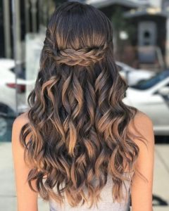 braids knotted long curls