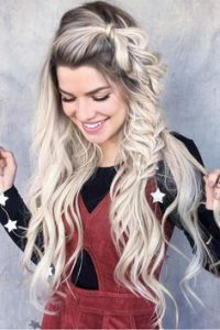long hair big braid on side
