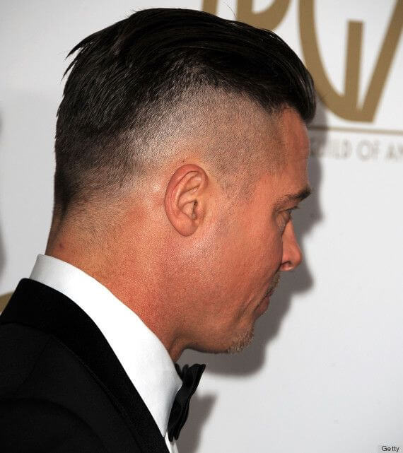 Brad Pitts Fury Hairstyle