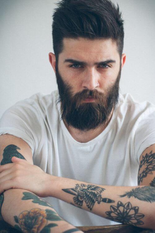 Man New Hair Style Tattoo