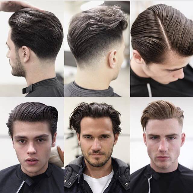 The Many Variations Of The Slicked Back Hairstyle