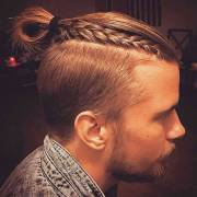 man bun braids surprising