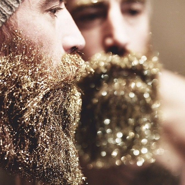 Glitter Beards The Newest Hipster Trend For The Holidays