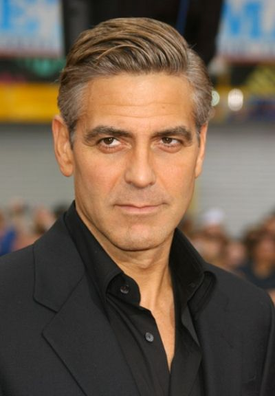 George Clooney's Hairstyle Simple And Classy