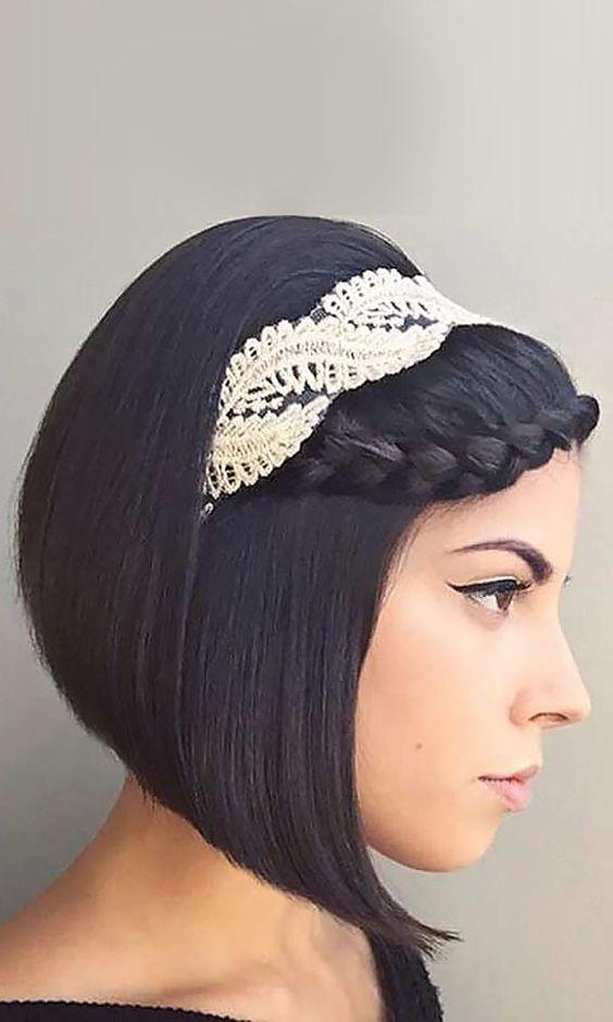 Romantic Wedding Hairstyles For Short Hair