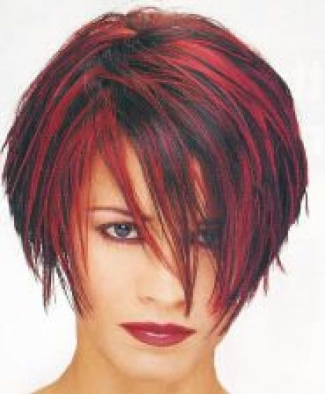 Hairstyles For Round Face Women Hot Color Streaks