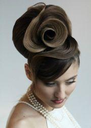amazing wedding updos rose swirl