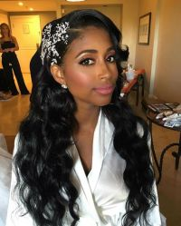 43 Black Wedding Hairstyles For Black Women Loose Waves ...