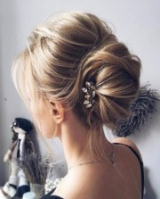 messy bun with bouffant party