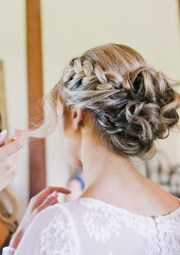 elegant outdoor wedding hairstyles
