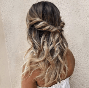 Prom Hairstyles Trending on Instagram   Half-up Tousled Waves   Hairstyle on Point