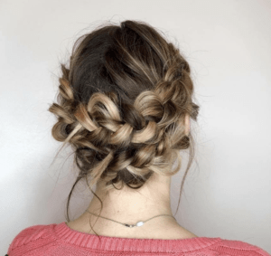 Prom Hairstyles Trending on Instagram   Around the head Braid   Hairstyle on Point
