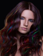 dramatic highlights brunette