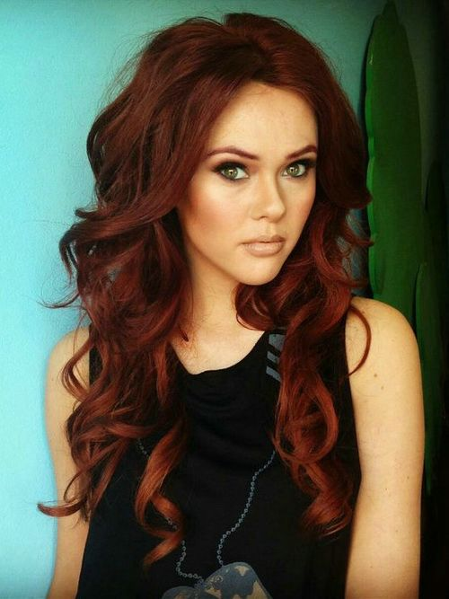 2016 Dark Red Hair Color Trends