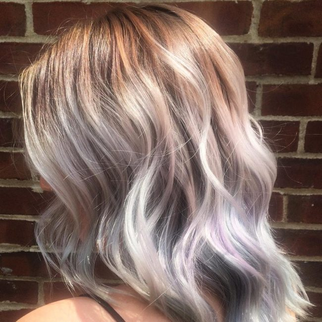 Violet highlights in blonde hair the best blonde hair 2017 20 geous pastel purple hairstyles for short long and mid blonde hair with pink purple kaboo highlights pmusecretfo Choice Image