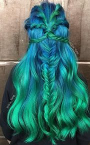 green hair color ideas 2017